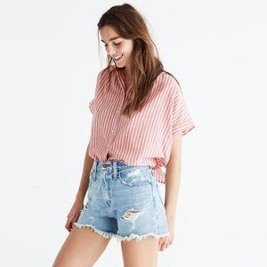 Madewell Central Tie-Back Striped Top